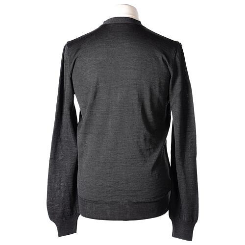 Casaco de malha sacerdote antracite tricô plano 50% lã de merino 50% acrílico In Primis 6