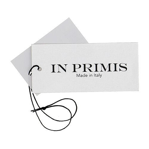 V-neck sleeveless clergy jumper grey plain knit 50% merino wool 50% acrylic In Primis 6