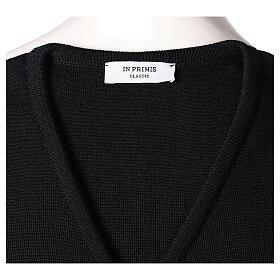 Chaleco sacerdote negro punto al derecho 50% acrílico 50% lana merina In Primis s5
