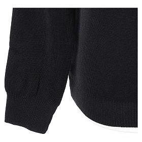 Pullover sacerdote girocollo nero in maglia unita 50% lana merino 50% acrilico In Primis s4