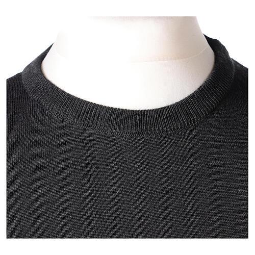 Jersey sacerdote cuello redondo antracita punto unido 50% lana merina 50% acrílico In Primis 2