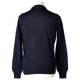Jersey sacerdote azul cuello redondo punto al derecho 50% lana merina 50% acrílico In Primis s5
