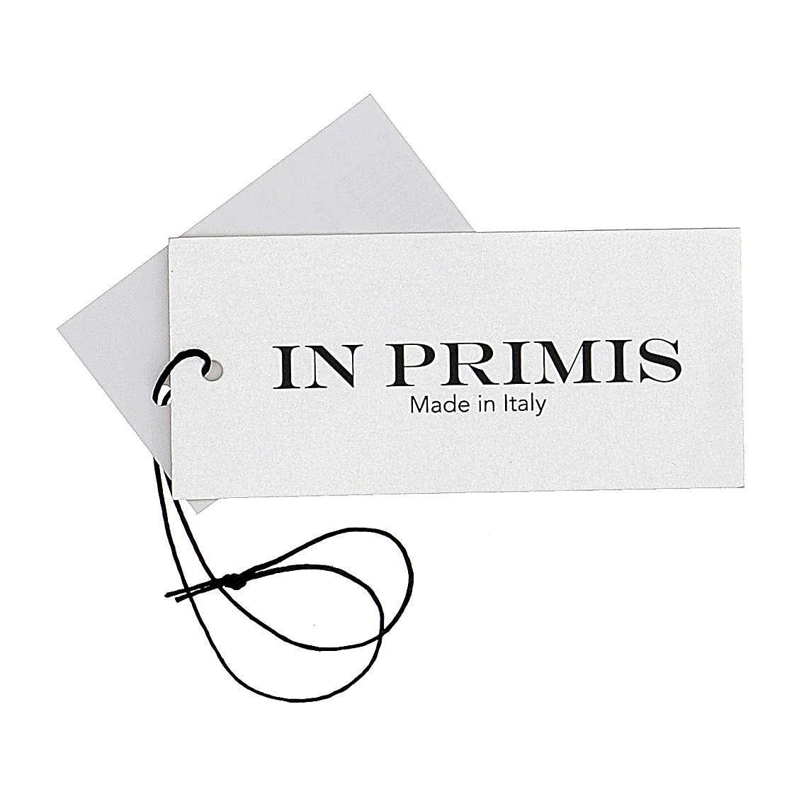 Pullover sacerdote blu girocollo a maglia rasata 50% lana merino 50% acrilico In Primis 4