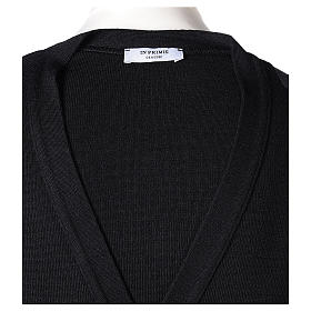 Giacca sacerdote nera tasche e bottoni 50% lana merino 50% acrilico In Primis s7