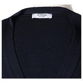 Giacca sacerdote blu tasche e bottoni 50% lana merino 50% acrilico In Primis s7
