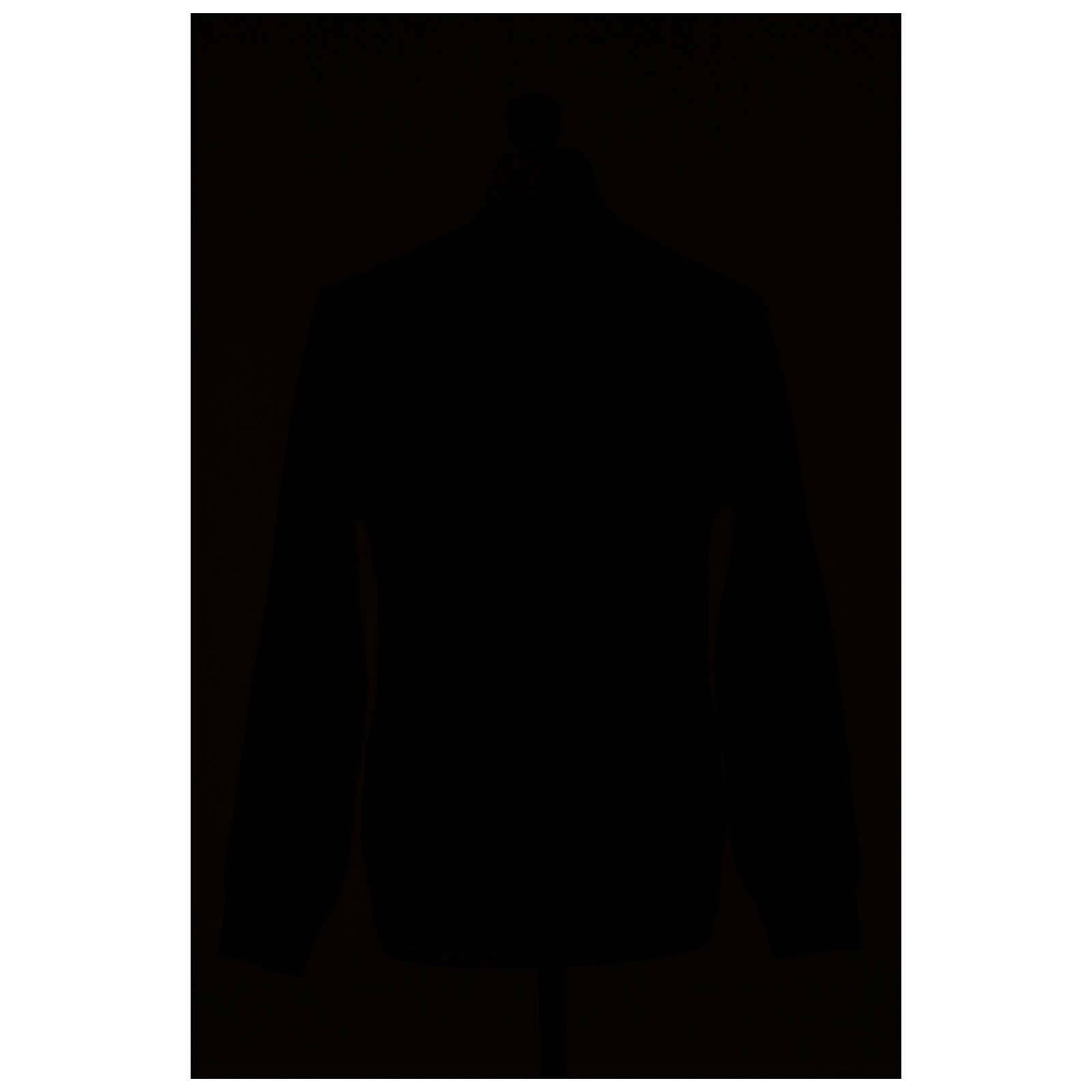 Chaqueta sacerdote antracita bolsillos y botones 50% lana merina 50% acrílico In Primis 4
