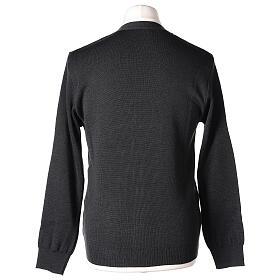 Chaqueta sacerdote antracita bolsillos y botones 50% lana merina 50% acrílico In Primis s7