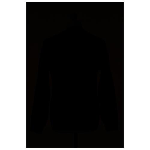Chaqueta sacerdote antracita bolsillos y botones 50% lana merina 50% acrílico In Primis 6