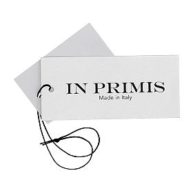 Gilet sacerdote aperto 50% lana merino 50% acrilico maglia rasata nero In Primis s7
