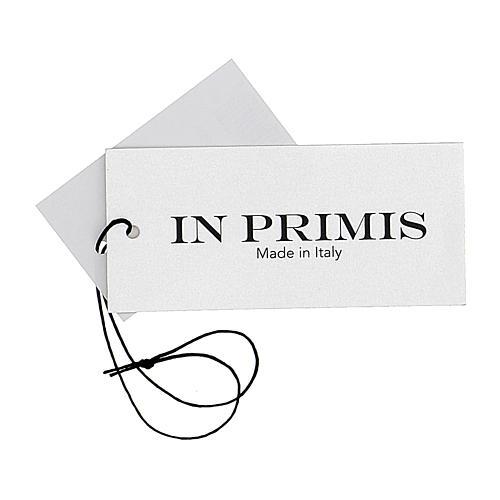 Gilet sacerdote aperto 50% lana merino 50% acrilico maglia rasata grigio antracite In Primis 7