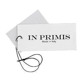 Colete sacerdote aberto 50% lã de merino 50% acrílico tricô plano antracite In Primis s7