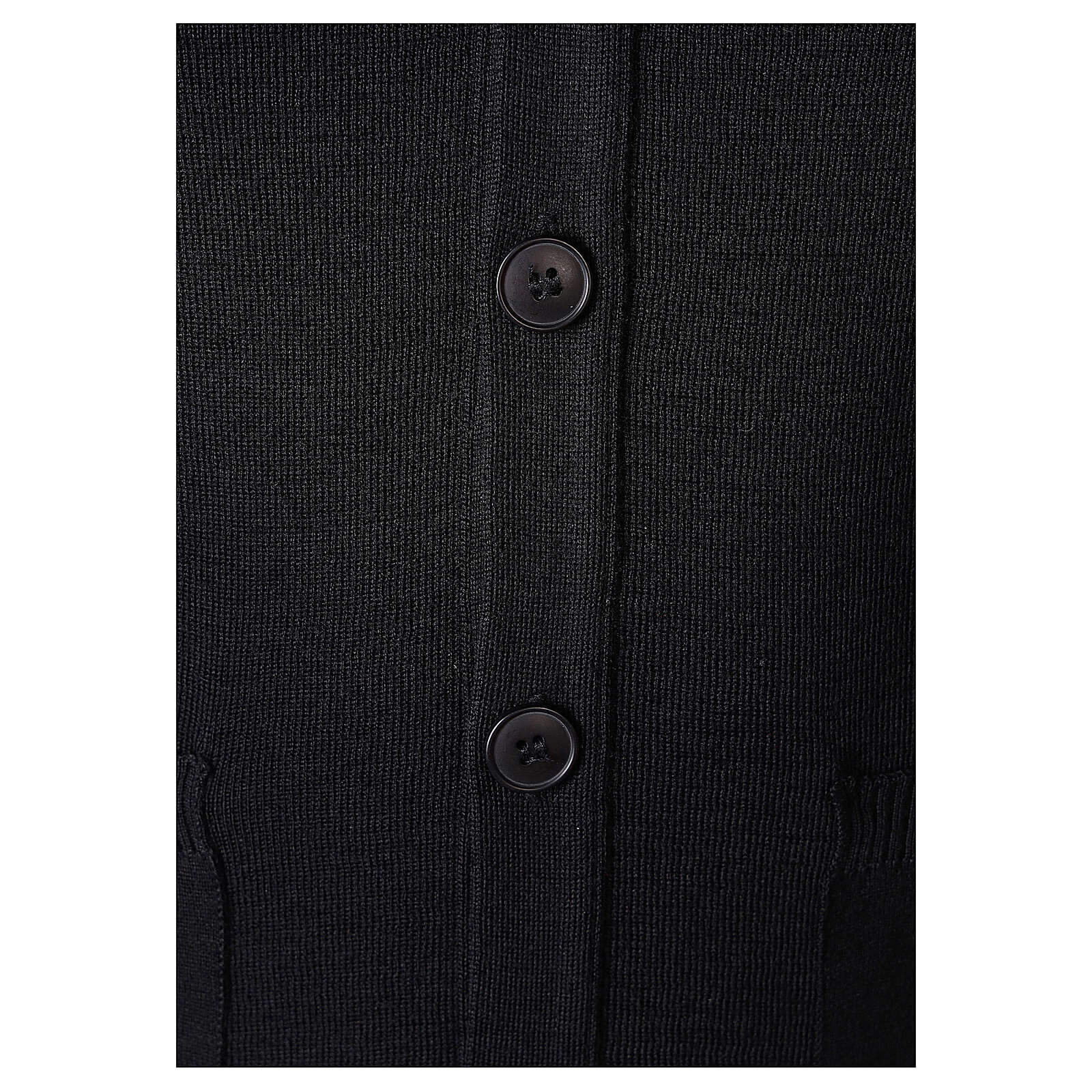 Giacca sacerdote nera tasche bottoni TAGLIE CONF. 50% merino 50% acr. In Primis 4