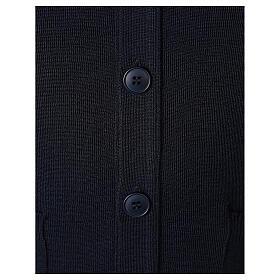 Giacca sacerdote blu tasche bottoni TAGLIE CONF. 50% merino 50% acr. In Primis s4