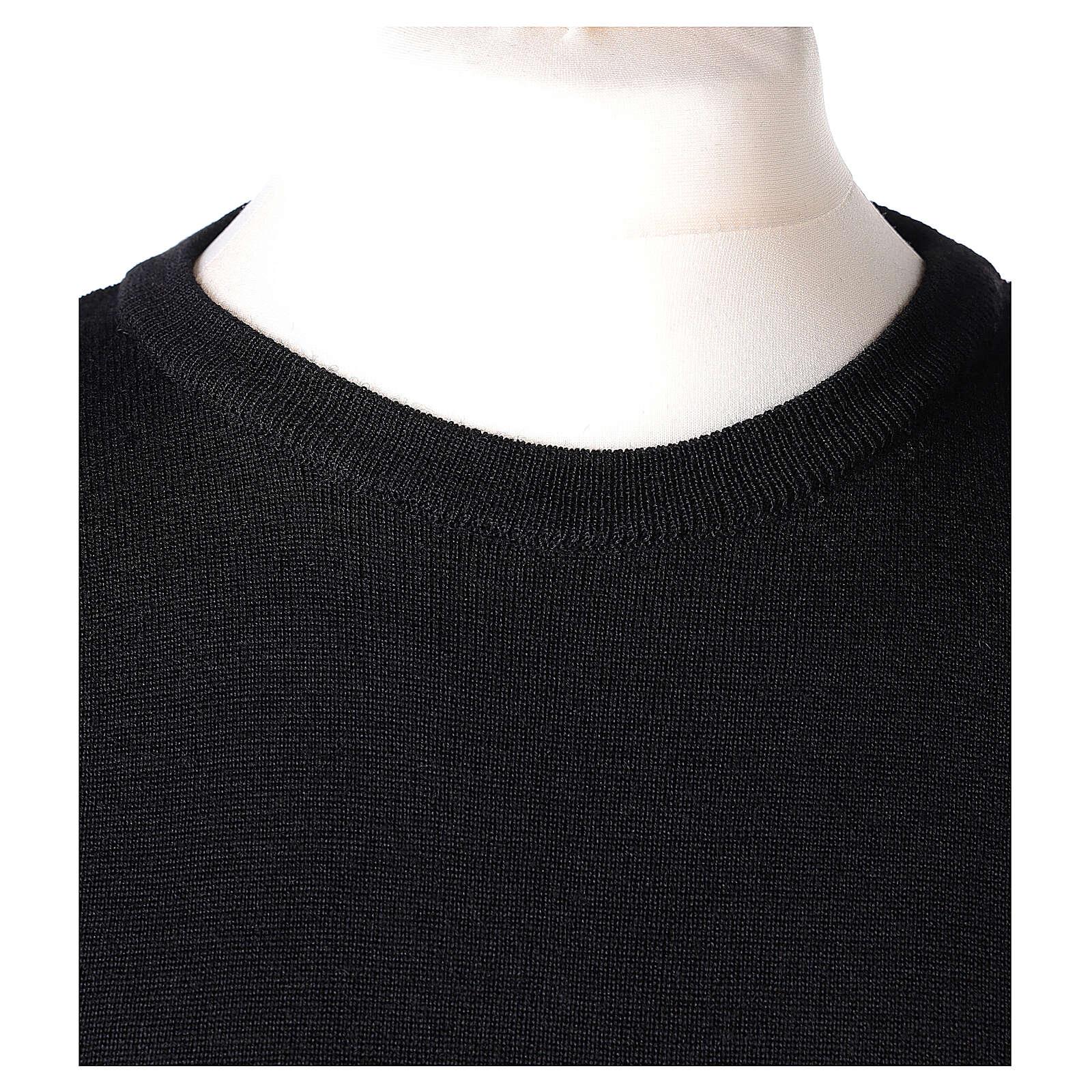 Pullover sacerdote girocollo nero TAGLIE CONF. 50% merino 50% acr. In Primis 4