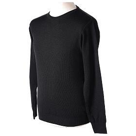 Pullover sacerdote girocollo nero TAGLIE CONF. 50% merino 50% acr. In Primis s3
