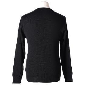 Pullover sacerdote girocollo nero TAGLIE CONF. 50% merino 50% acr. In Primis s5