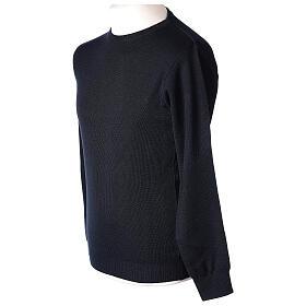 Pullover sacerdote girocollo blu TAGLIE CONF. 50% merino 50% acr. In Primis s3