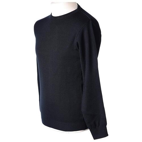 Pullover sacerdote girocollo blu TAGLIE CONF. 50% merino 50% acr. In Primis 3