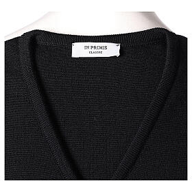 Clergy black sleeveless jumper plain knit 50% merino wool 50% acrylic PLUS SIZES In Primis s5