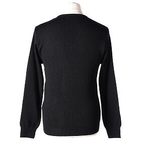 Clergy jumper V-neck black PLUS SIZES 50% merino wool 50% acrylic In Primis s5