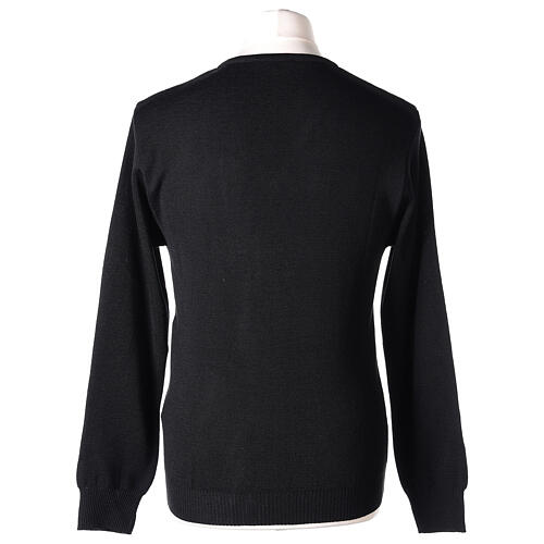 Clergy jumper V-neck black PLUS SIZES 50% merino wool 50% acrylic In Primis 5