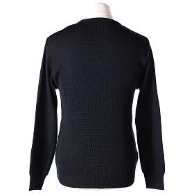 Clergy jumper V-neck blue PLUS SIZES 50% merino wool 50% acrylic In Primis s5