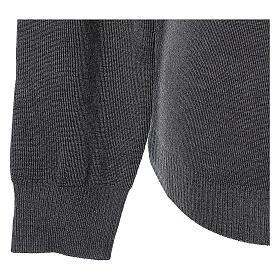 Clergy jumper V-neck grey PLUS SIZES 50% merino wool 50% acrylic In Primis s4