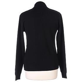Lupetto nero suora lavorazione maglia unita 50% lana merino 50% acrilico In Primis s4