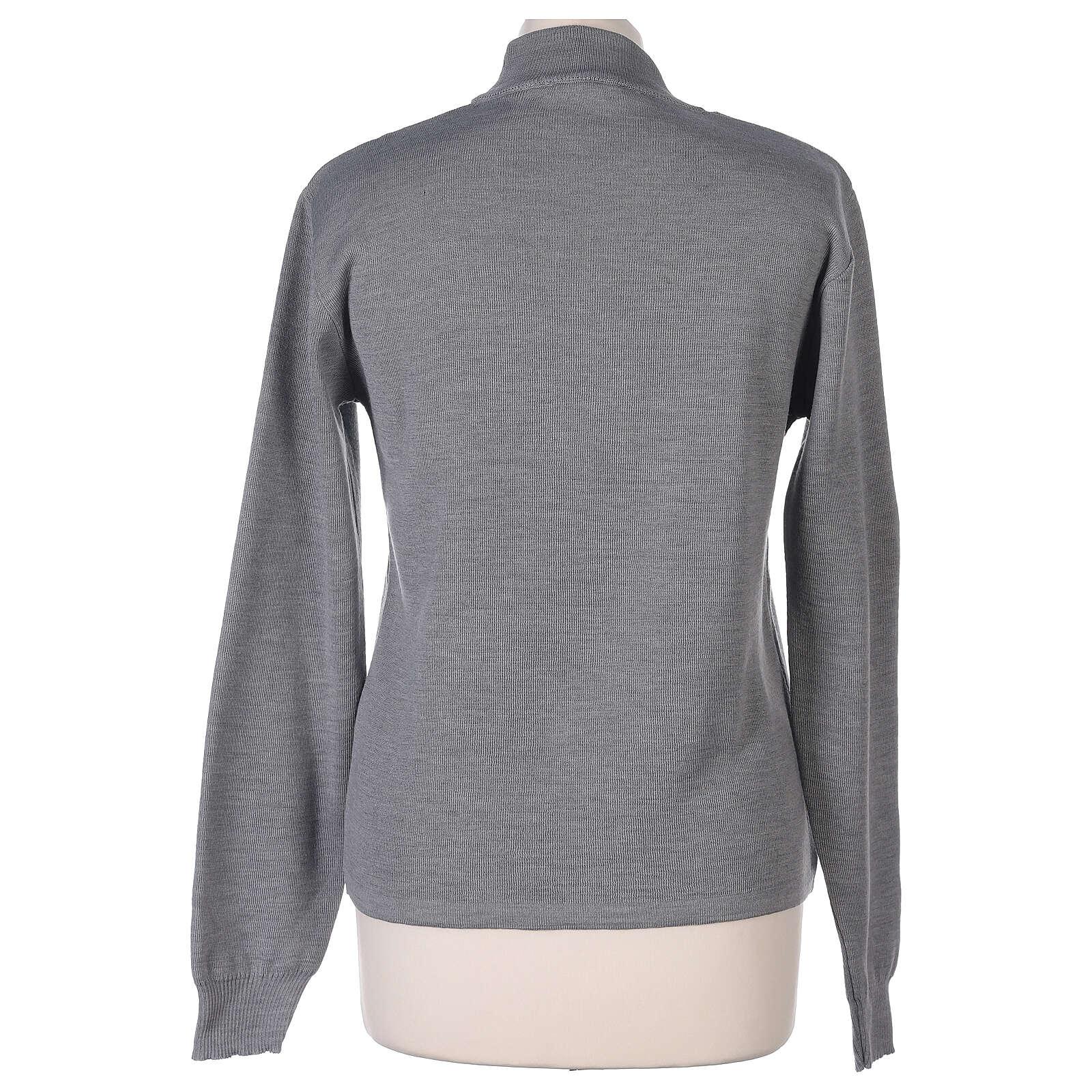 Lupetto grigio suora perla lavorazione maglia unita 50% merino 50% acrilico In Primis 4