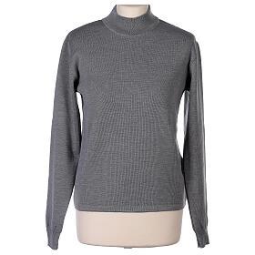 Lupetto grigio suora perla lavorazione maglia unita 50% merino 50% acrilico In Primis s1