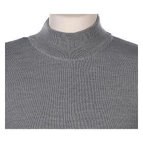Lupetto grigio suora perla lavorazione maglia unita 50% merino 50% acrilico In Primis s2