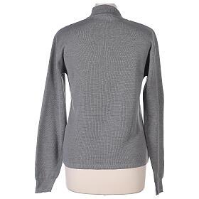 Lupetto grigio suora perla lavorazione maglia unita 50% merino 50% acrilico In Primis s4