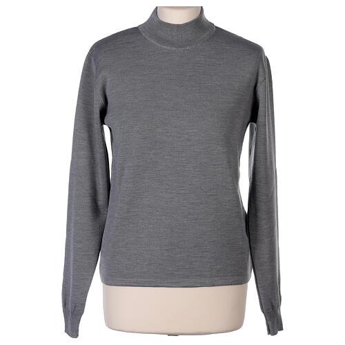Lupetto grigio suora perla lavorazione maglia unita 50% merino 50% acrilico In Primis 1