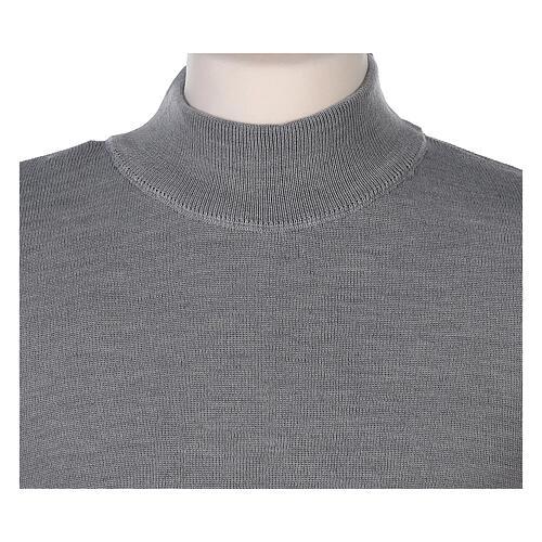 Lupetto grigio suora perla lavorazione maglia unita 50% merino 50% acrilico In Primis 2