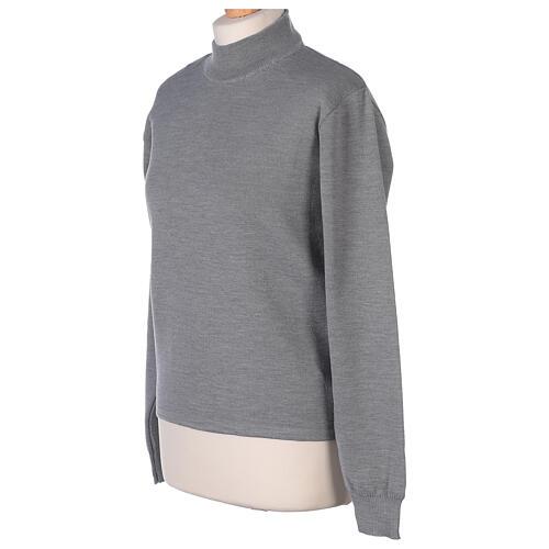 Lupetto grigio suora perla lavorazione maglia unita 50% merino 50% acrilico In Primis 3