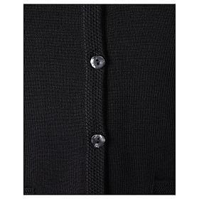 Gilet nero suora con tasche collo a V 50% acrilico 50% lana merino In Primis s4