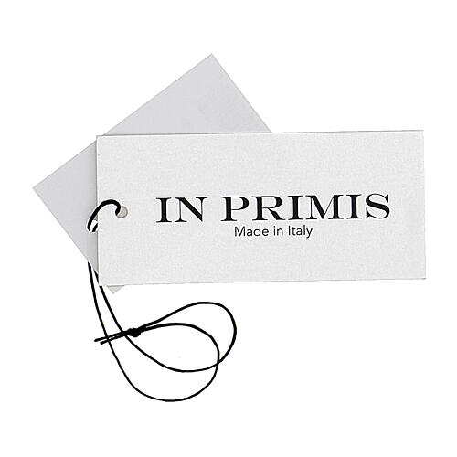 Rebeca azul monja cuello V bolsillos punto unido 50% acrílico 50% lana merina In Primis 8