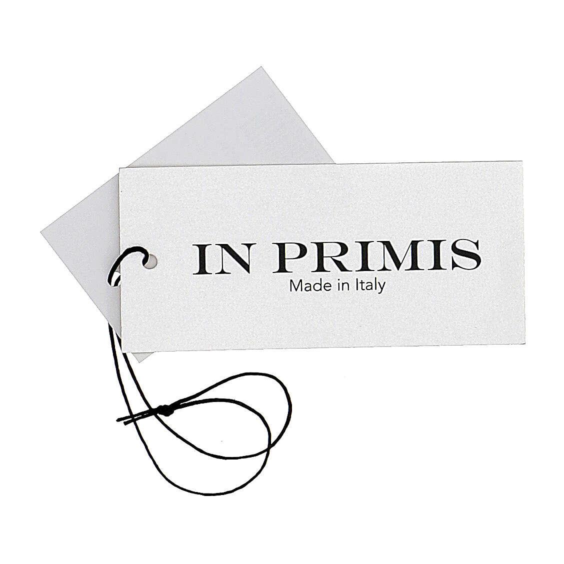 Casaco de malha castanho decote em V para freira com bolsos, 50% acrílico e 50% lã de merino, linha