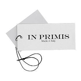 Chaleco blanco corto cuello V bolsillos punto unido 50% acrílico 50% lana merina monja In Primis s7