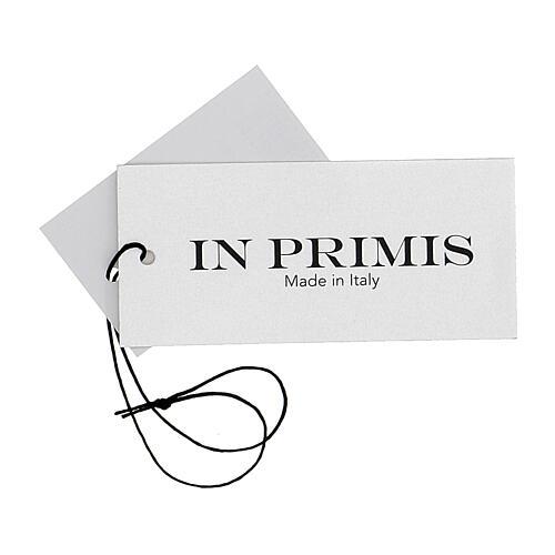Chaleco blanco corto cuello V bolsillos punto unido 50% acrílico 50% lana merina monja In Primis 7