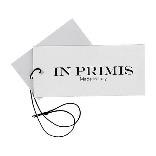 Gilet suora grigio perla corto collo a V 50% acrilico 50% lana merino In Primis 7