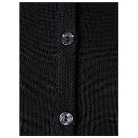 Rebeca monja negra coreana bolsillos punto unido 50% acrílico 50% lana merina In Primis s4