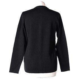 Cardigan suora nero coreana tasche maglia unita 50% acrilico 50% lana merino In Primis s6