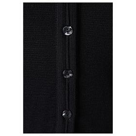 Giacca corta nera 50% lana merino 50% acrilico suora In Primis s4