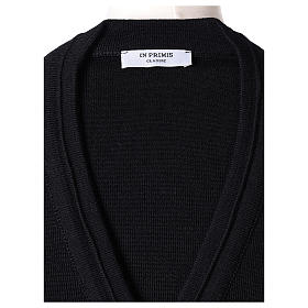 Giacca corta nera 50% lana merino 50% acrilico suora In Primis s6