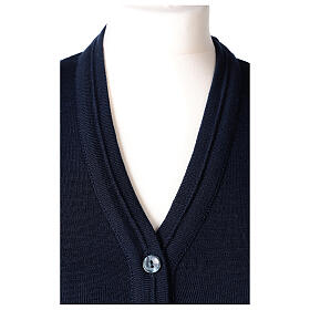 Chaqueta corta azul 50% lana merina 50% acrílico monja In Primis s2