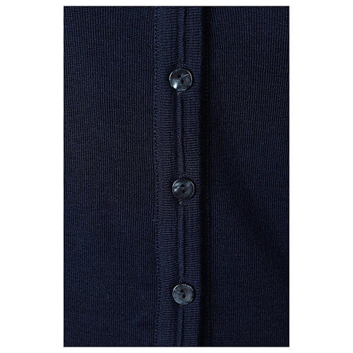 Chaqueta corta azul 50% lana merina 50% acrílico monja In Primis 4