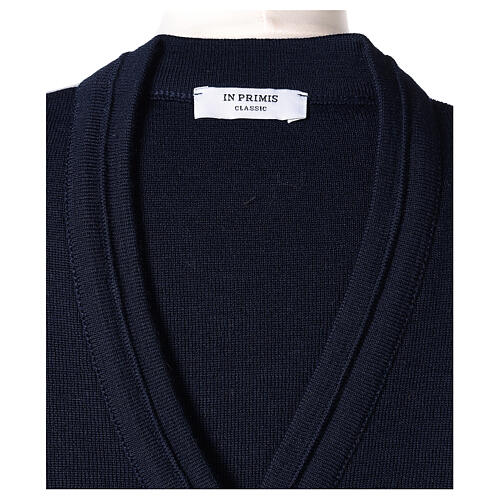 Chaqueta corta azul 50% lana merina 50% acrílico monja In Primis 6