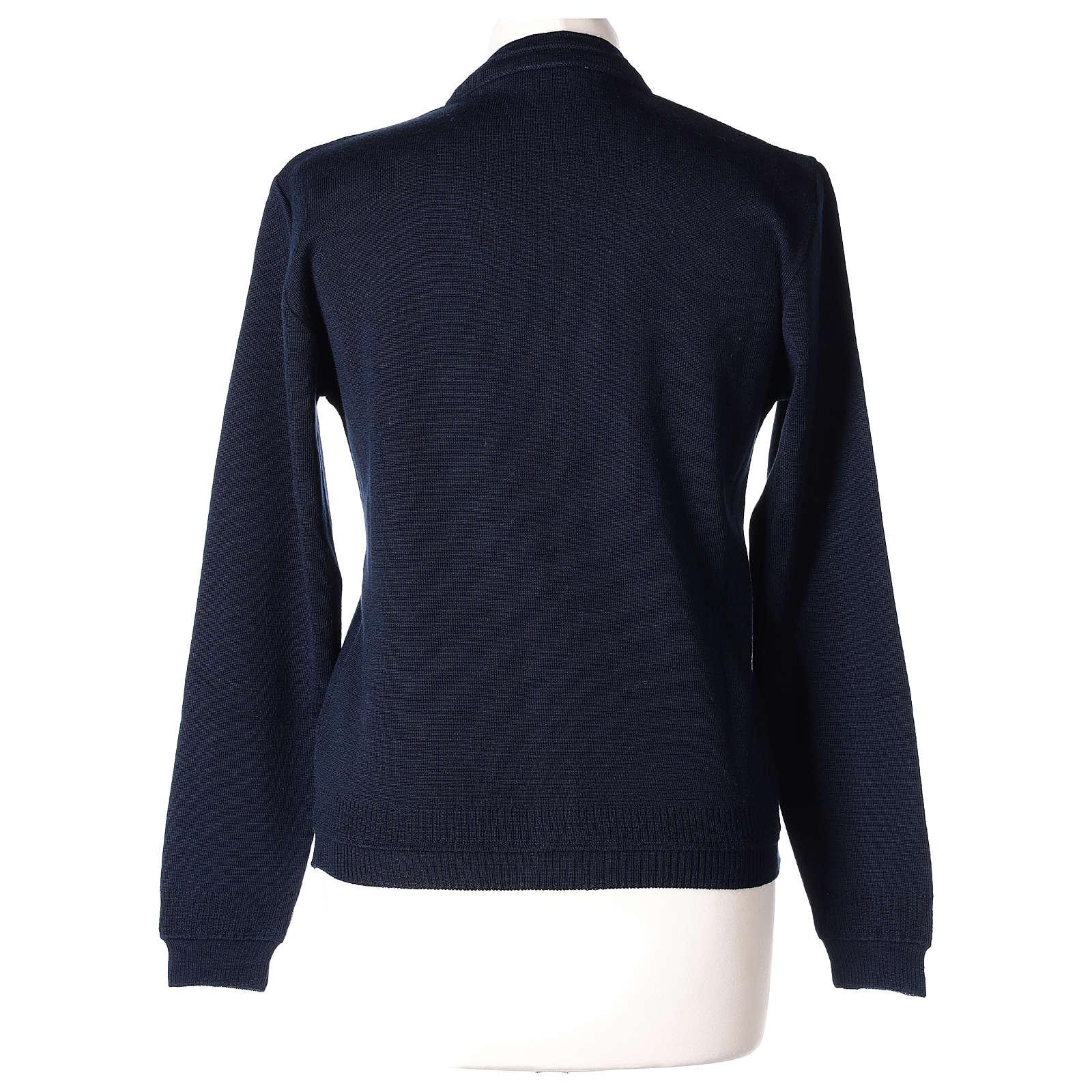 Giacca corta blu 50% lana merino 50% acrilico suora In Primis 4