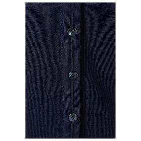 Giacca corta blu 50% lana merino 50% acrilico suora In Primis s4